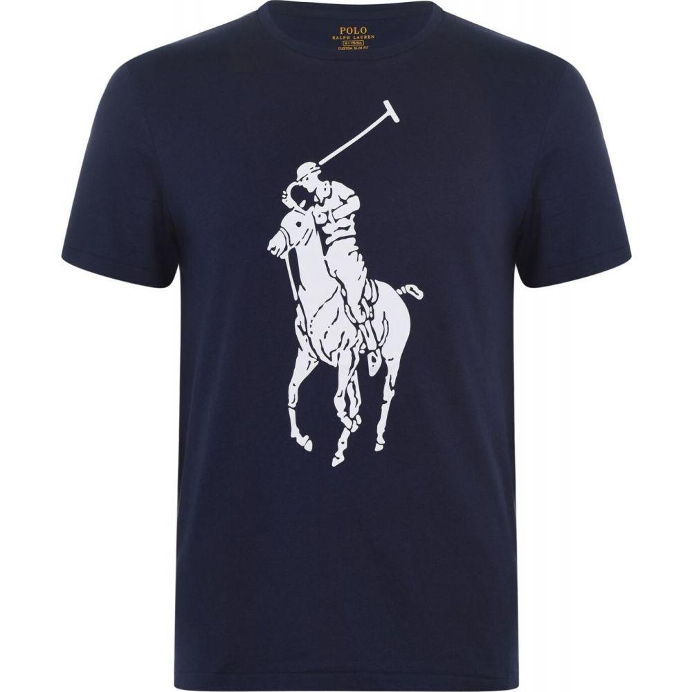 ラルフ ローレン Polo Ralph Lauren メンズ Tシャツ トップス【big logo t-shirt】Newport Navy