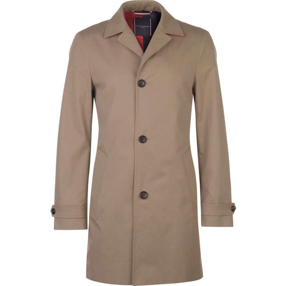 トミー ヒルフィガー Tommy Hilfiger Tailoring メンズ トレンチコート アウター【tommy pure cotton point collar trench coat】Stone