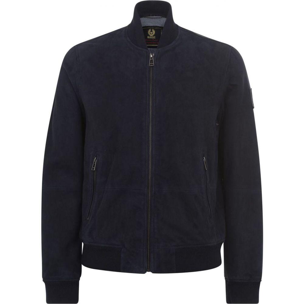 ベルスタッフ BELSTAFF メンズ ブルゾン ミリタリージャケット アウター【harbour suede bomber jacket】Dark Ink