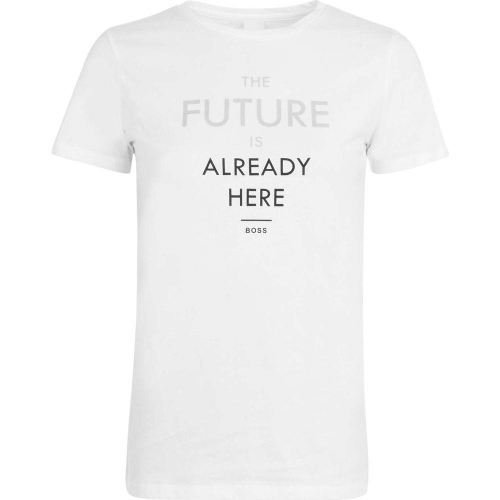 ヒューゴ ボス BOSS レディース Tシャツ トップス【the future is already here t shirt】White