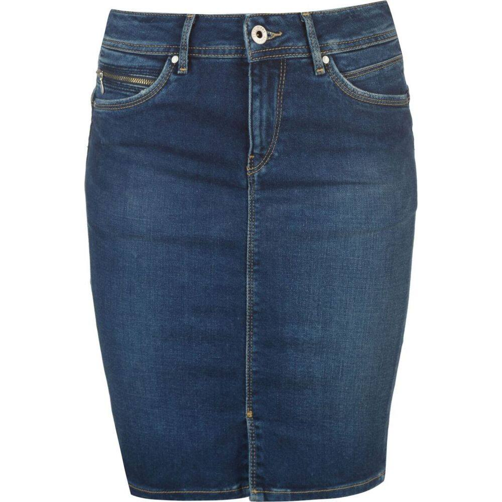 ペペジーンズ Pepe Jeans レディース スカート デニム【denim skirt】Dark Tru Blue