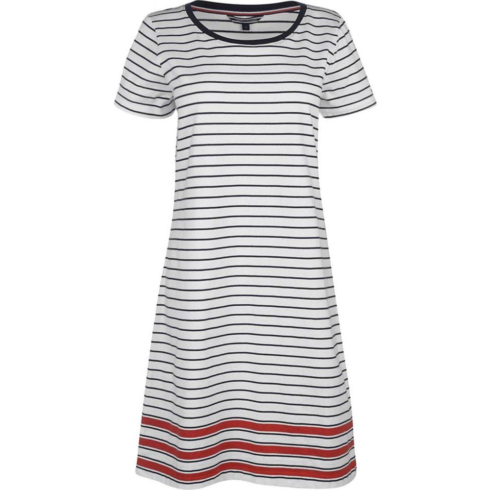 トミー ジーンズ Tommy Jeans レディース パーティードレス ワンピース・ドレス【diara dress】White/Blk/Red