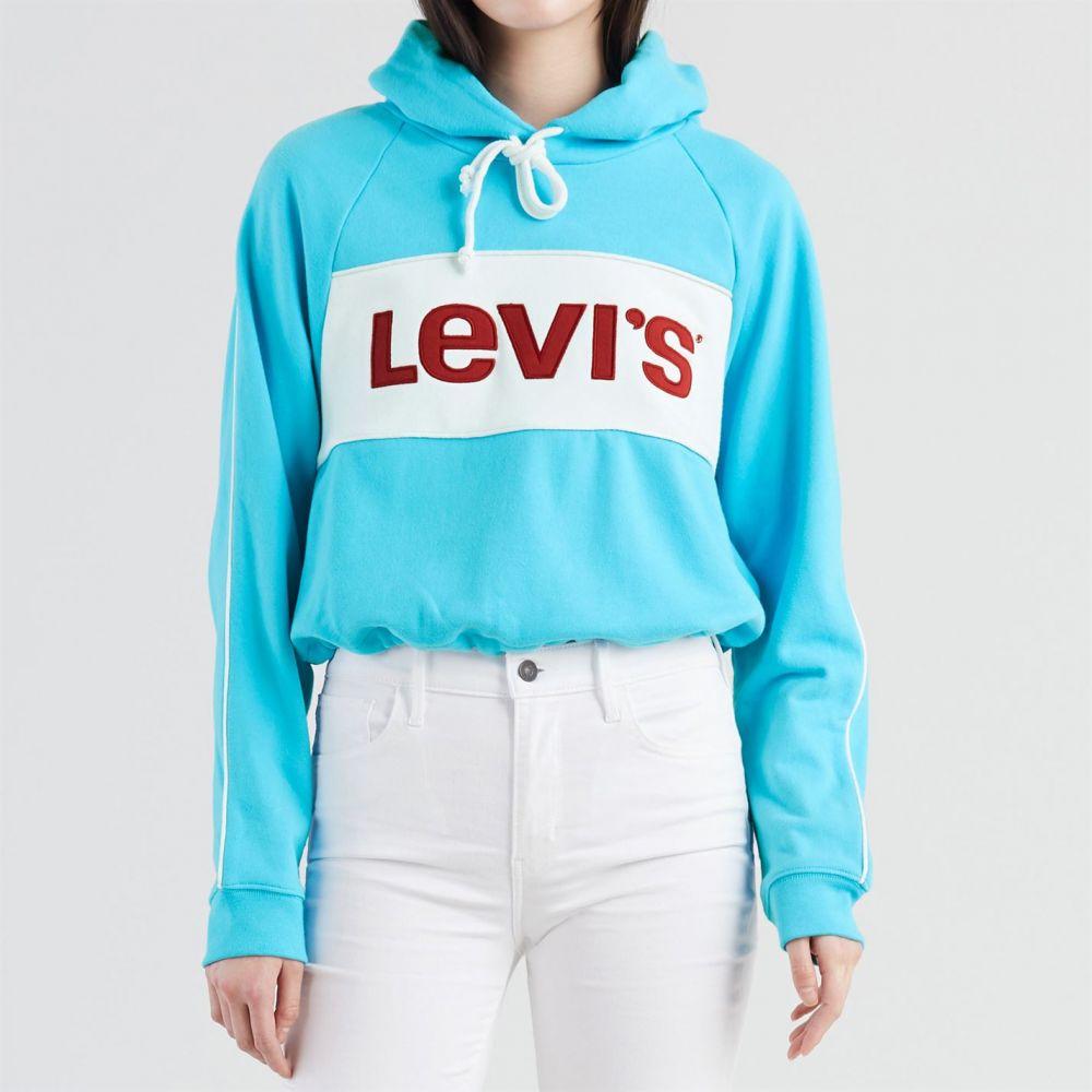 繝ェ繝シ繝舌う繧ケ Levis 繝ャ繝�繧」繝シ繧ケ 繝代�シ繧ォ繝シ 繝医ャ繝励せ縲芯inch logo hoodie縲全wim Blue