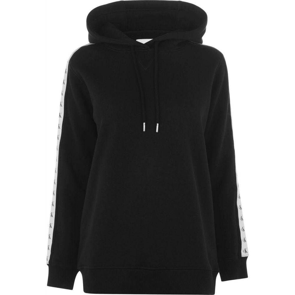 カルバンクライン Calvin Klein Jeans レディース パーカー トップス【mono tape hoodie】CK Black