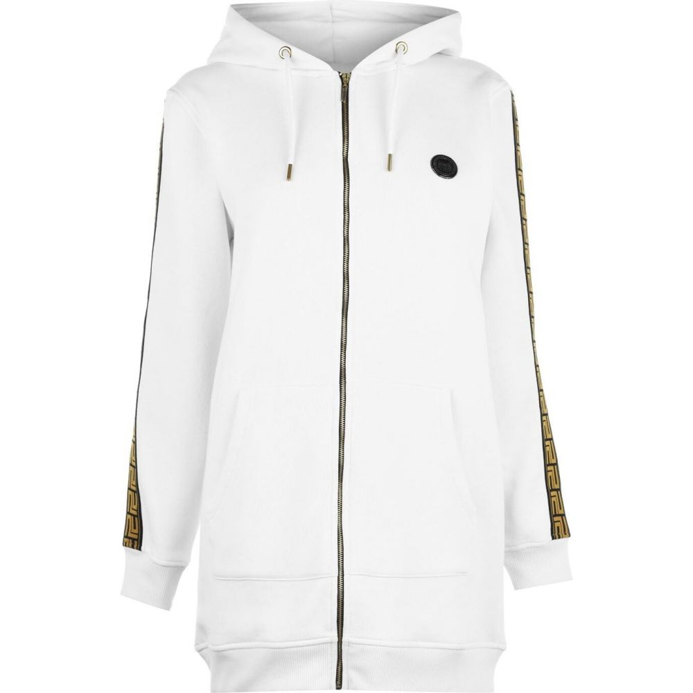 プレジデントクラブ Presidents Club レディース ワンピース ワンピース・ドレス【helix zipped hooded sweater dress】White