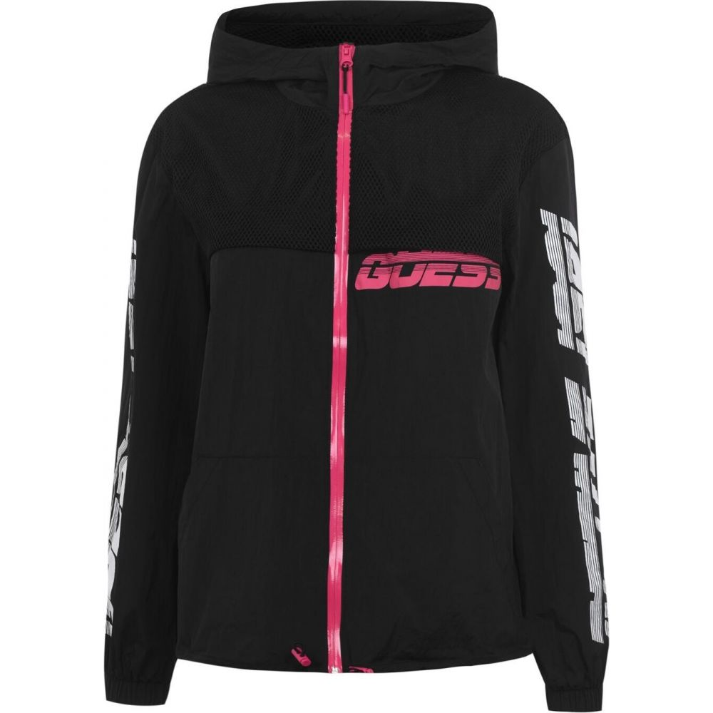 ゲス Guess レディース ジャケット ウィンドブレーカー アウター【active windbreaker jacket】Black A