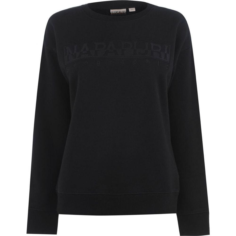 ナパピリ Napapijri レディース スウェット・トレーナー トップス【crew sweatshirt】Black
