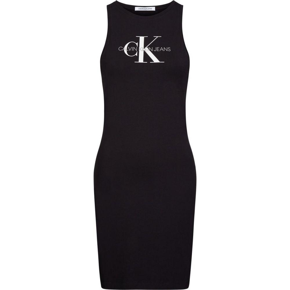 カルバンクライン Calvin Klein Jeans レディース パーティードレス タンクドレス ワンピース・ドレス【mono tank dress】CK Black