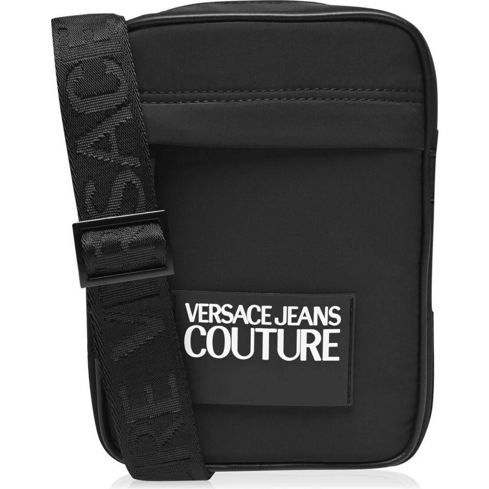 ヴェルサーチ VERSACE JEANS COUTURE メンズ ショルダーバッグ バッグ【logo cross body bag】Black