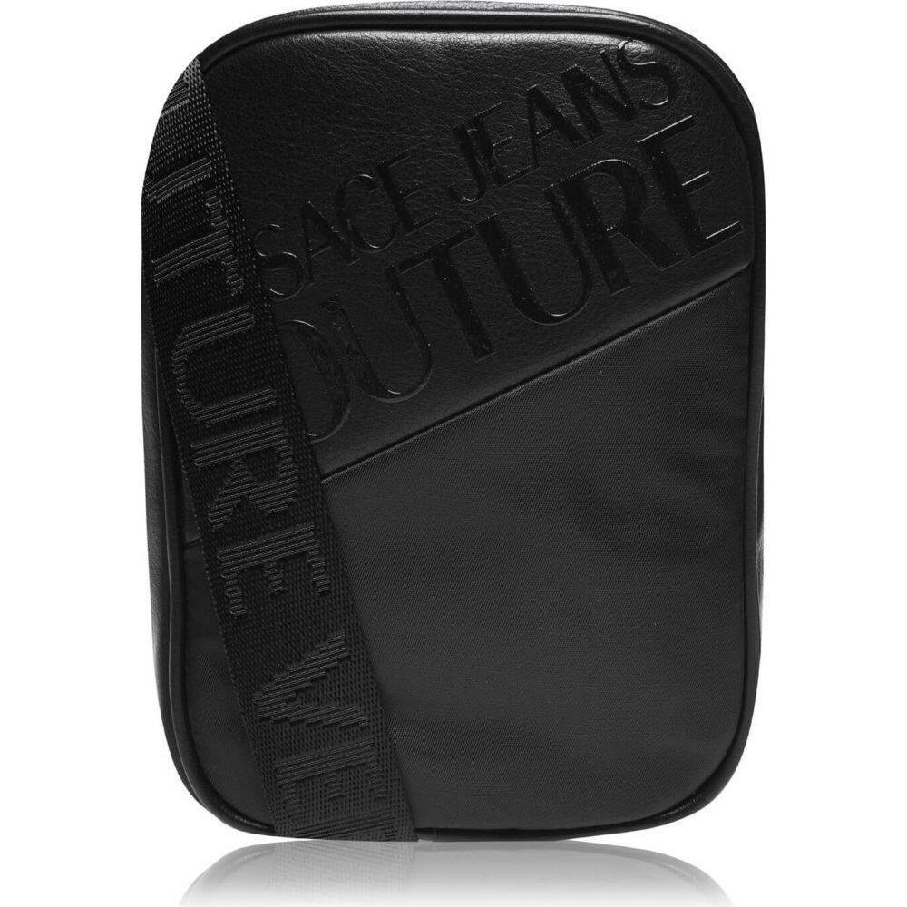 ヴェルサーチ VERSACE JEANS COUTURE メンズ ショルダーバッグ バッグ【logo small cross body bag】Black