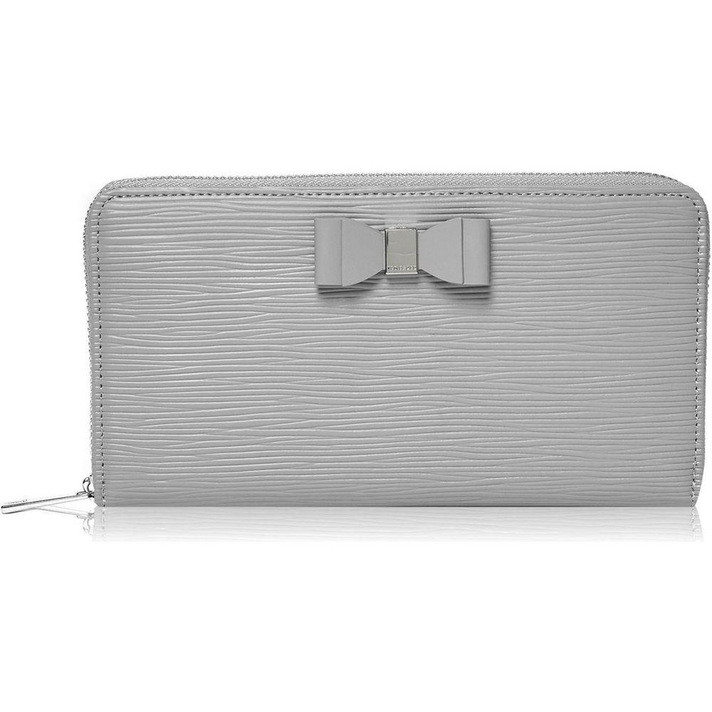 テッドベーカー Ted Baker ユニセックス 財布 【rouxi bow leather zip around purse】midgrey