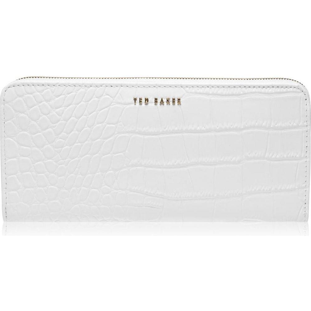 テッドベーカー Ted Baker レディース 財布 【stelyys exotic croc print mantinee purse】ivory