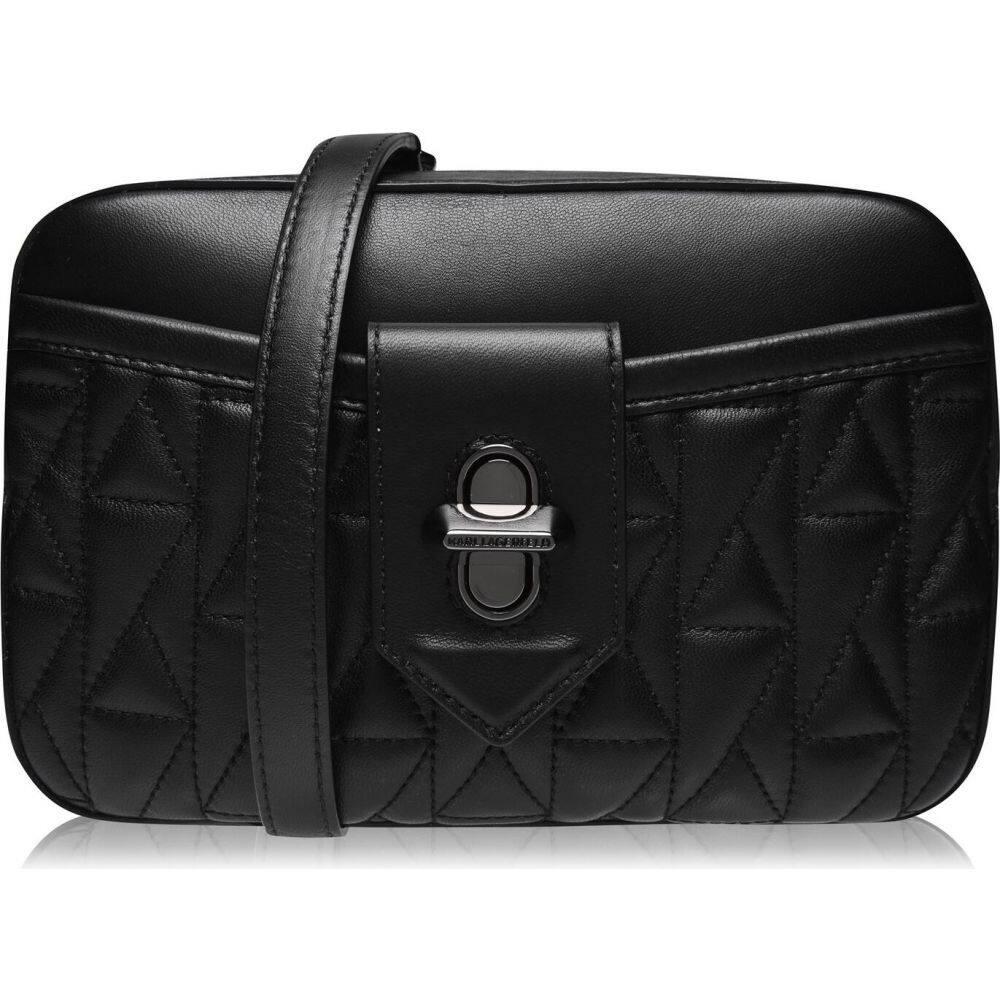 カール ラガーフェルド Karl Lagerfeld レディース ショルダーバッグ カメラバッグ バッグ【studio stitched camera bag】A Black