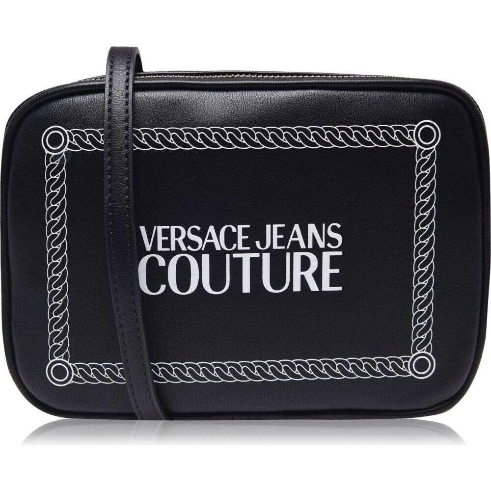 bag】Blk/White JEANS レディース ヴェルサーチ VERSACE カメラバッグ COUTURE logo バッグ【box ショルダーバッグ camera