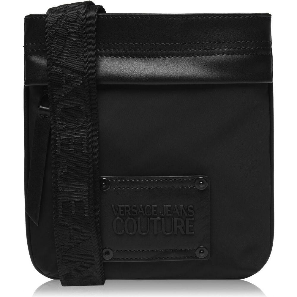 ヴェルサーチ VERSACE JEANS COUTURE メンズ メッセンジャーバッグ バッグ【logo nylon messenger bag】Black