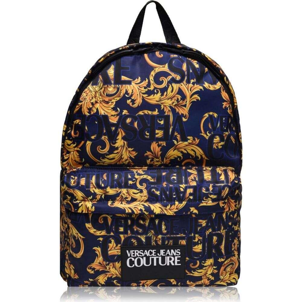 ヴェルサーチ VERSACE JEANS COUTURE メンズ バックパック・リュック バッグ【all over print backpack】Blue