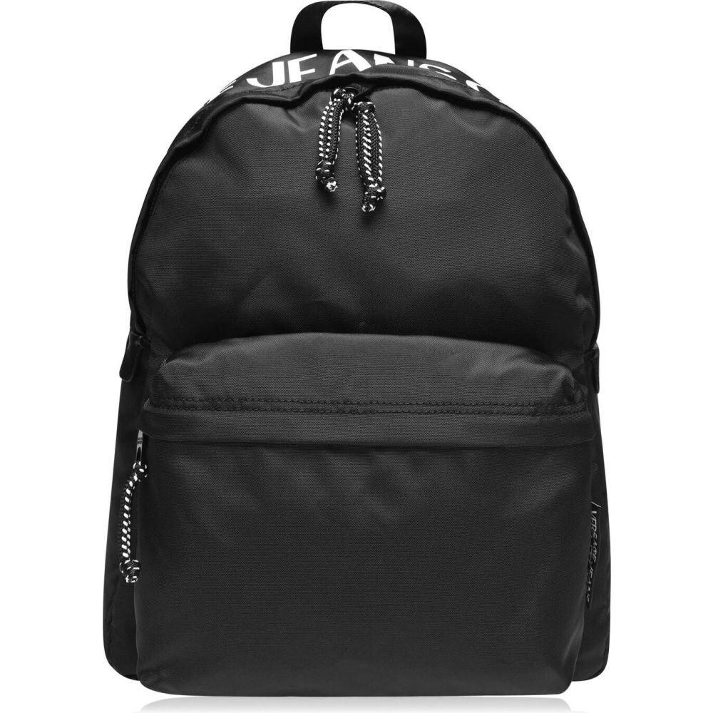 ヴェルサーチ VERSACE JEANS COUTURE メンズ バックパック・リュック バッグ【logo backpack】Black