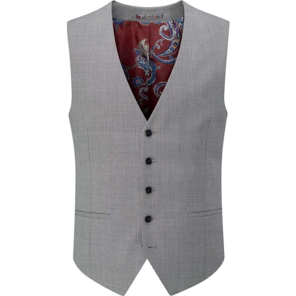 スコープス Skopes メンズ ベスト・ジレ トップス【crown wool suit waistcoat】Grey