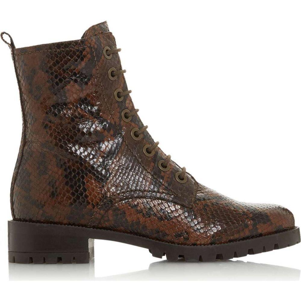 デューン Dune London レディース ハイキング・登山 ブーツ シューズ・靴【prestone cleated sole laceup hiker boots】Reptile