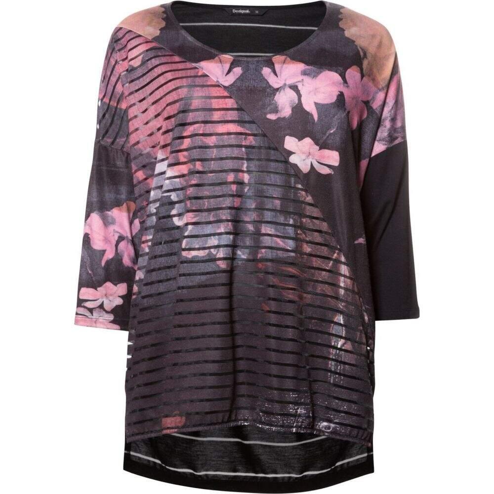 デジグアル Desigual レディース Tシャツ トップス【t-shirt belgica】Black