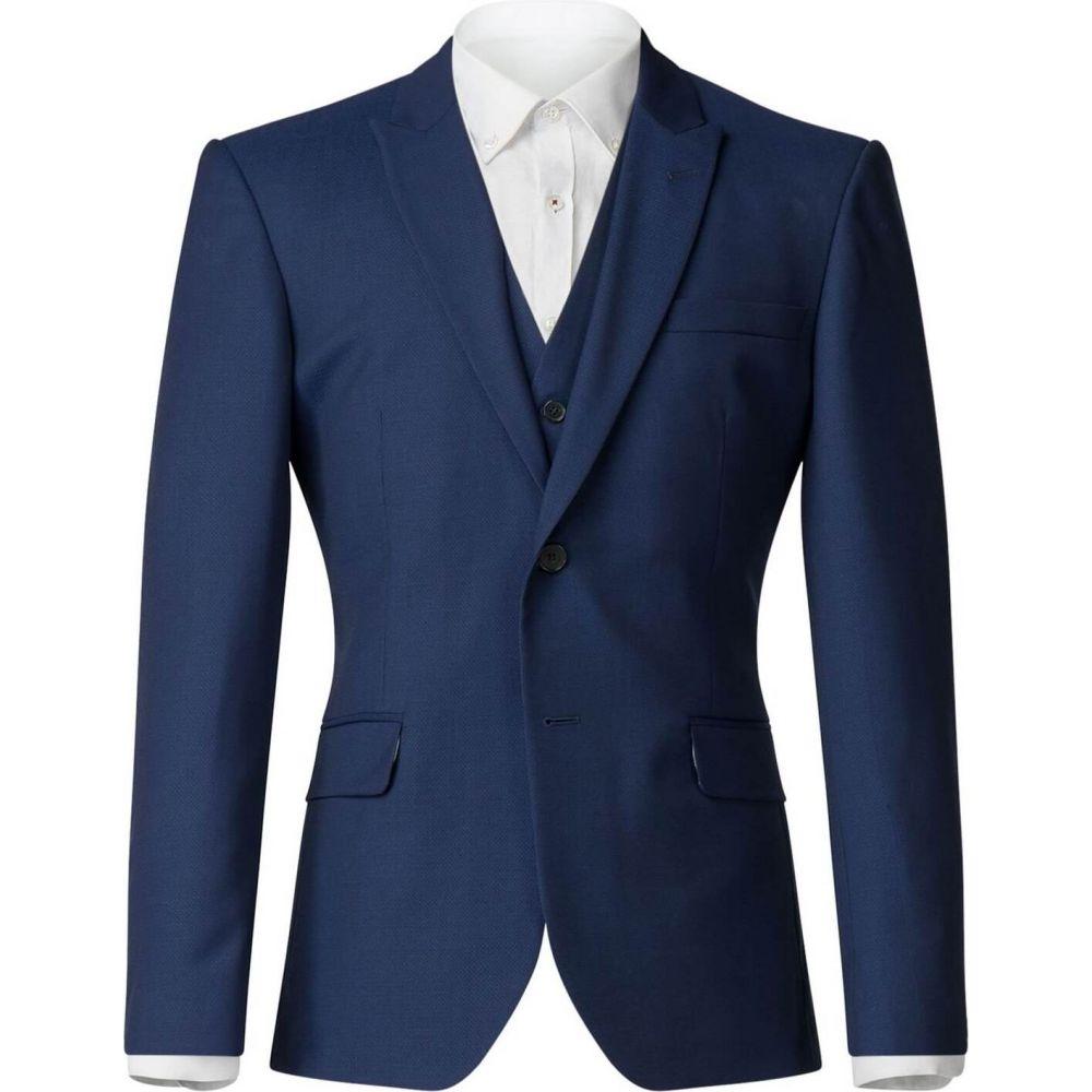 ベンシャーマン Ben Sherman メンズ スーツ・ジャケット アウター【avery blue texture jacket】Blue