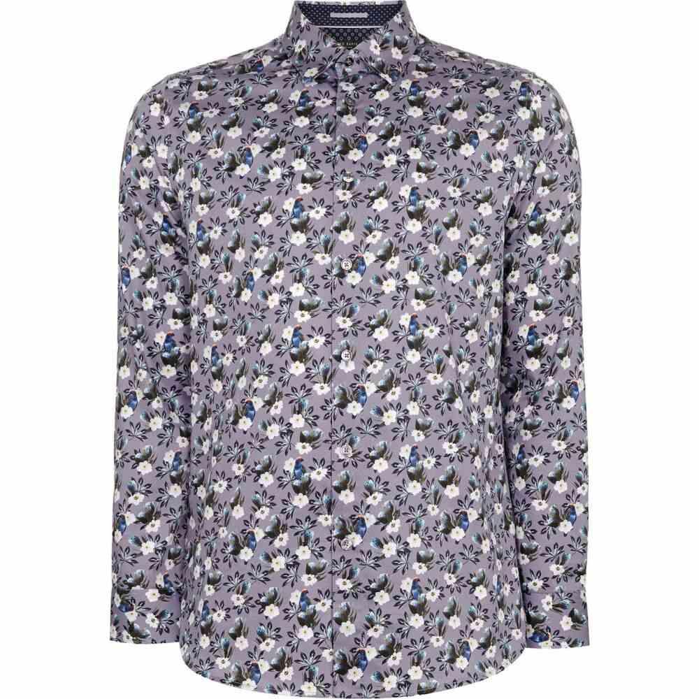 テッドベーカー Ted Baker メンズ シャツ トップス【shecan floral cotton shirt】LILAC