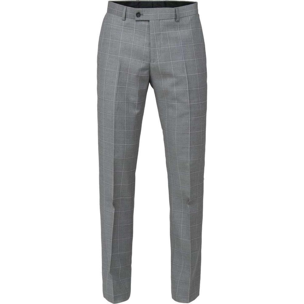 ベンシャーマン Ben Sherman メンズ スラックス ボトムス・パンツ【grey check tailored fit trouser】Grey