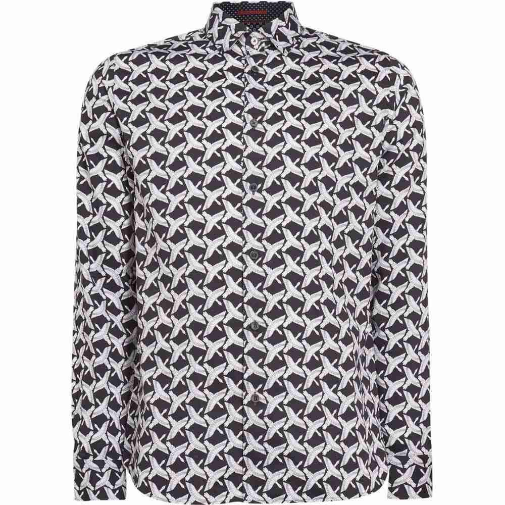 テッドベーカー Ted Baker メンズ シャツ トップス【sino cotton bird print shirt】NAVY