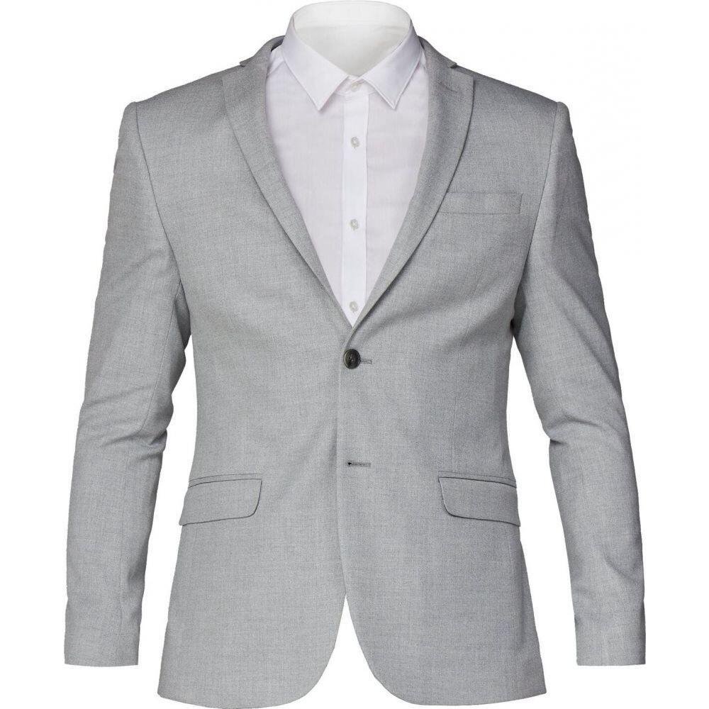 ライムハウス Limehaus メンズ スーツ・ジャケット アウター【light grey skinny fit suit jacket】Light Grey
