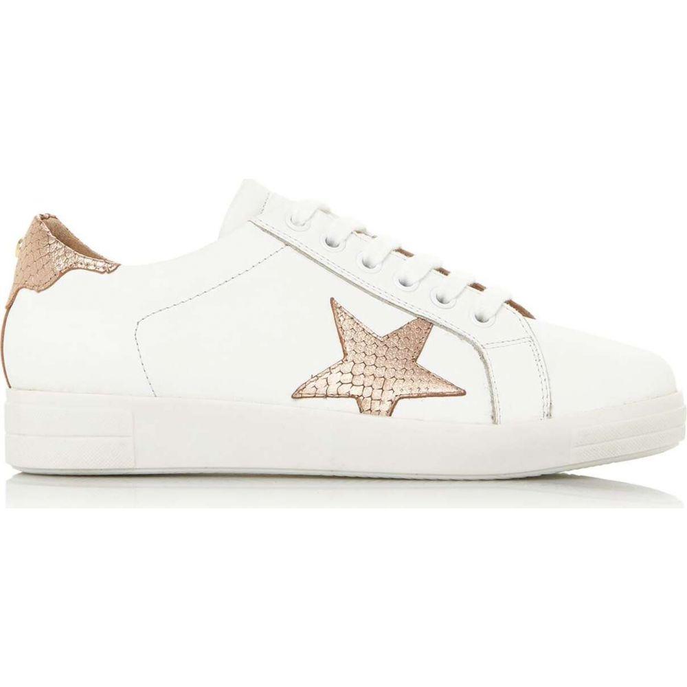 デューン Dune London レディース スニーカー レースアップ シューズ・靴【edris s star lace up trainers】Rose Gold