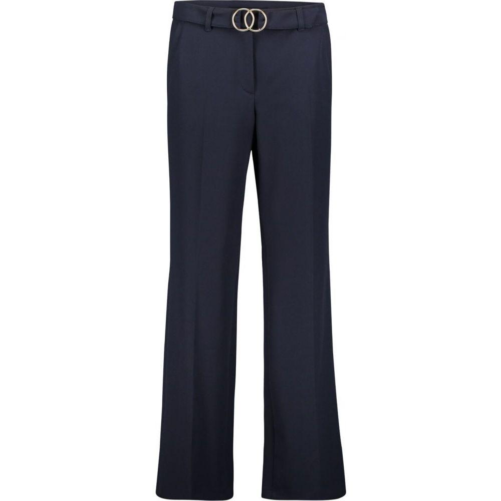 ベティー バークレイ Betty Barclay レディース ボトムス・パンツ 【crepe trousers with belt】Dark Sky
