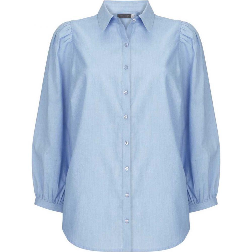 ミルトン ベルベット Mint Velvet レディース ブラウス・シャツ シャンブレーシャツ トップス【blue puffed chambray shirt】Blue