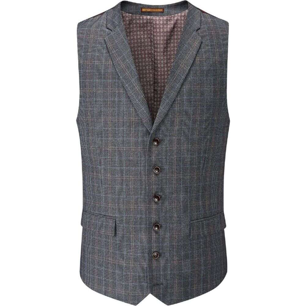 スコープス Skopes メンズ ベスト・ジレ トップス【witton check suit waistcoat】Grey
