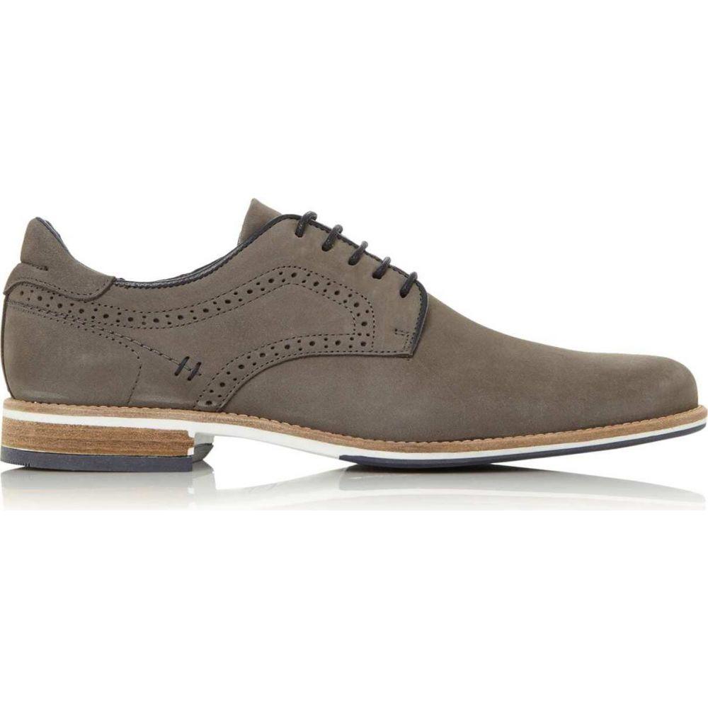 デューン Dune London メンズ 革靴・ビジネスシューズ シューズ・靴【brampton piped gibson shoes】Grey