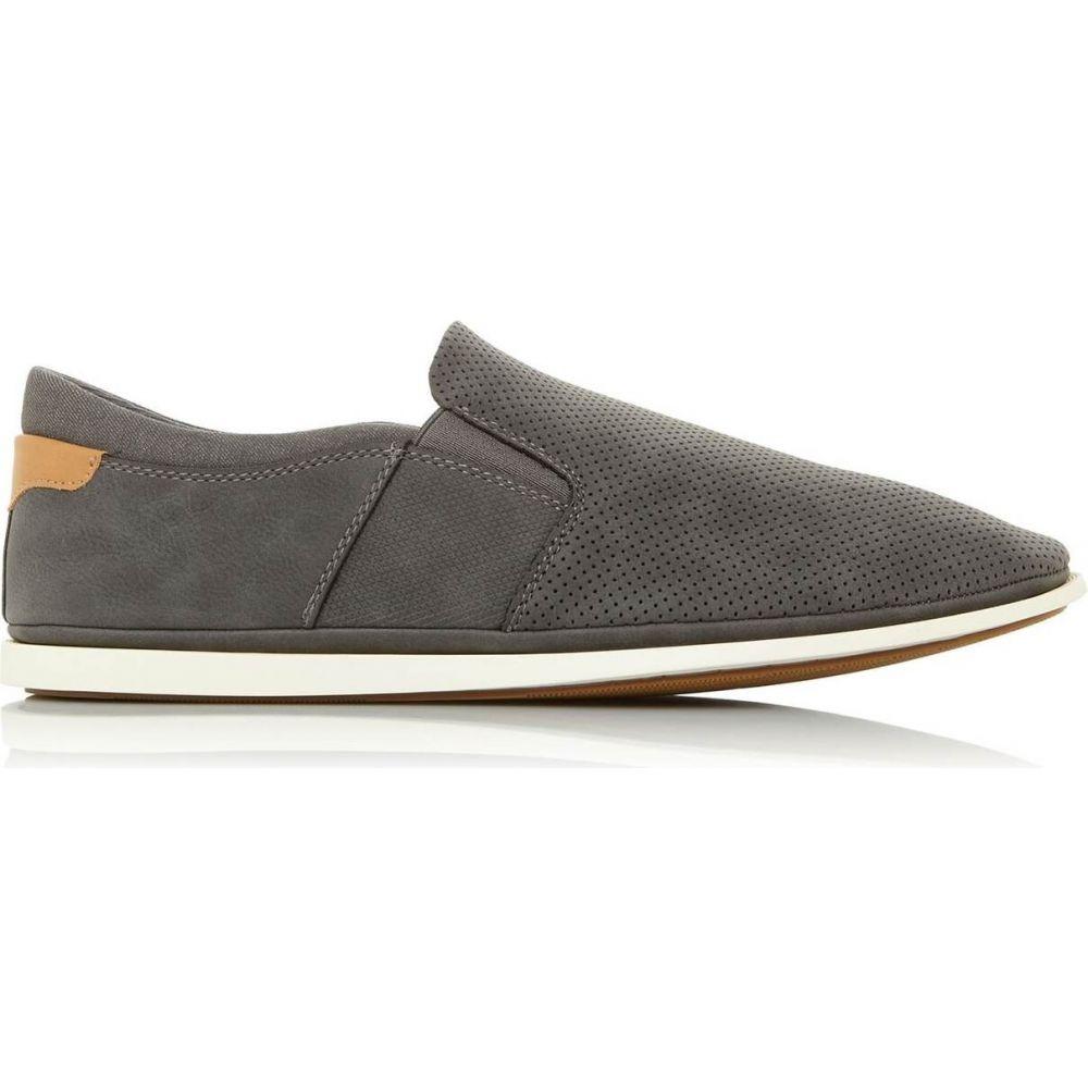 デューン Dune London メンズ スリッポン・フラット シューズ・靴【blinks perforated slip on shoes】Grey