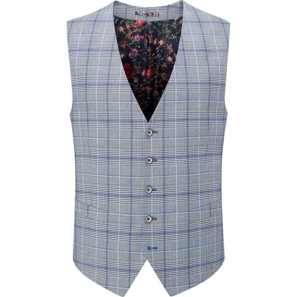 スコープス Skopes メンズ ベスト・ジレ トップス【stark check suit waistcoat】Grey