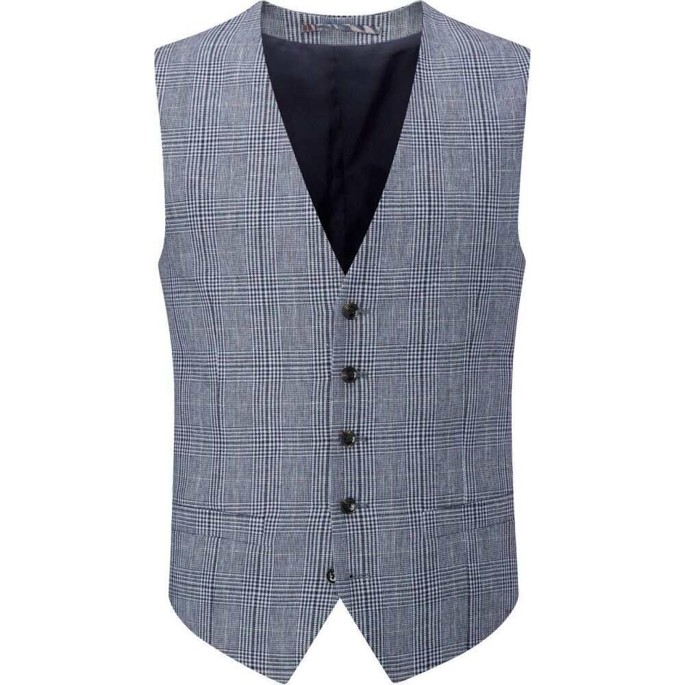 スコープス Skopes メンズ ベスト・ジレ トップス【jardins linen blend waistcoat】Blue