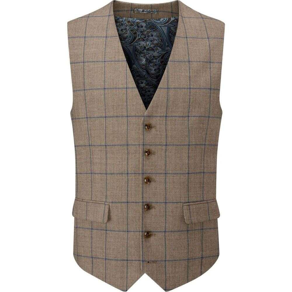 スコープス Skopes メンズ ベスト・ジレ トップス【welburn wool blend suit waistcoat】Brown