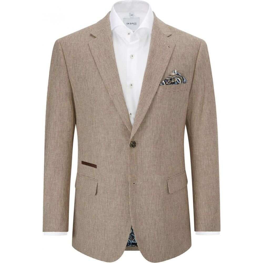 linen blend cotton メンズ Skopes アウター【tonelli スコープス jacket】Stone スーツ・ジャケット