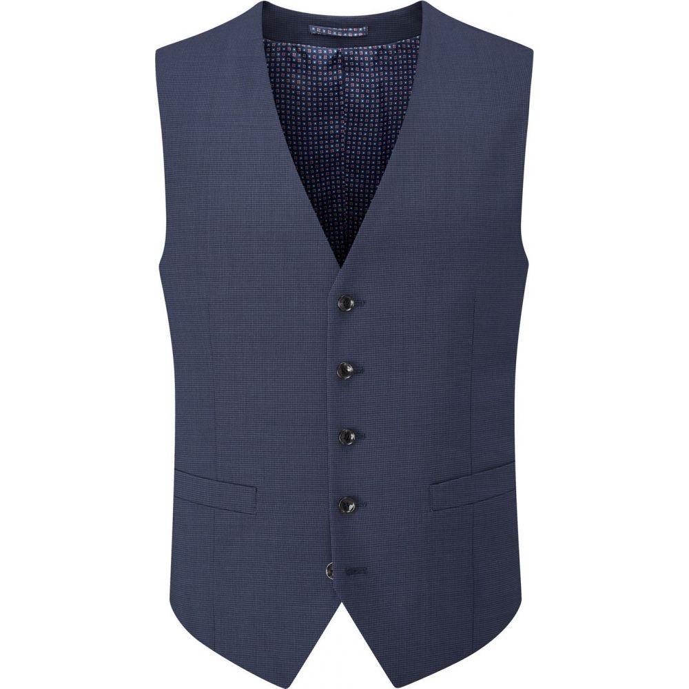 スコープス Skopes メンズ ベスト・ジレ トップス【persico wool check suit waistcoat】Navy