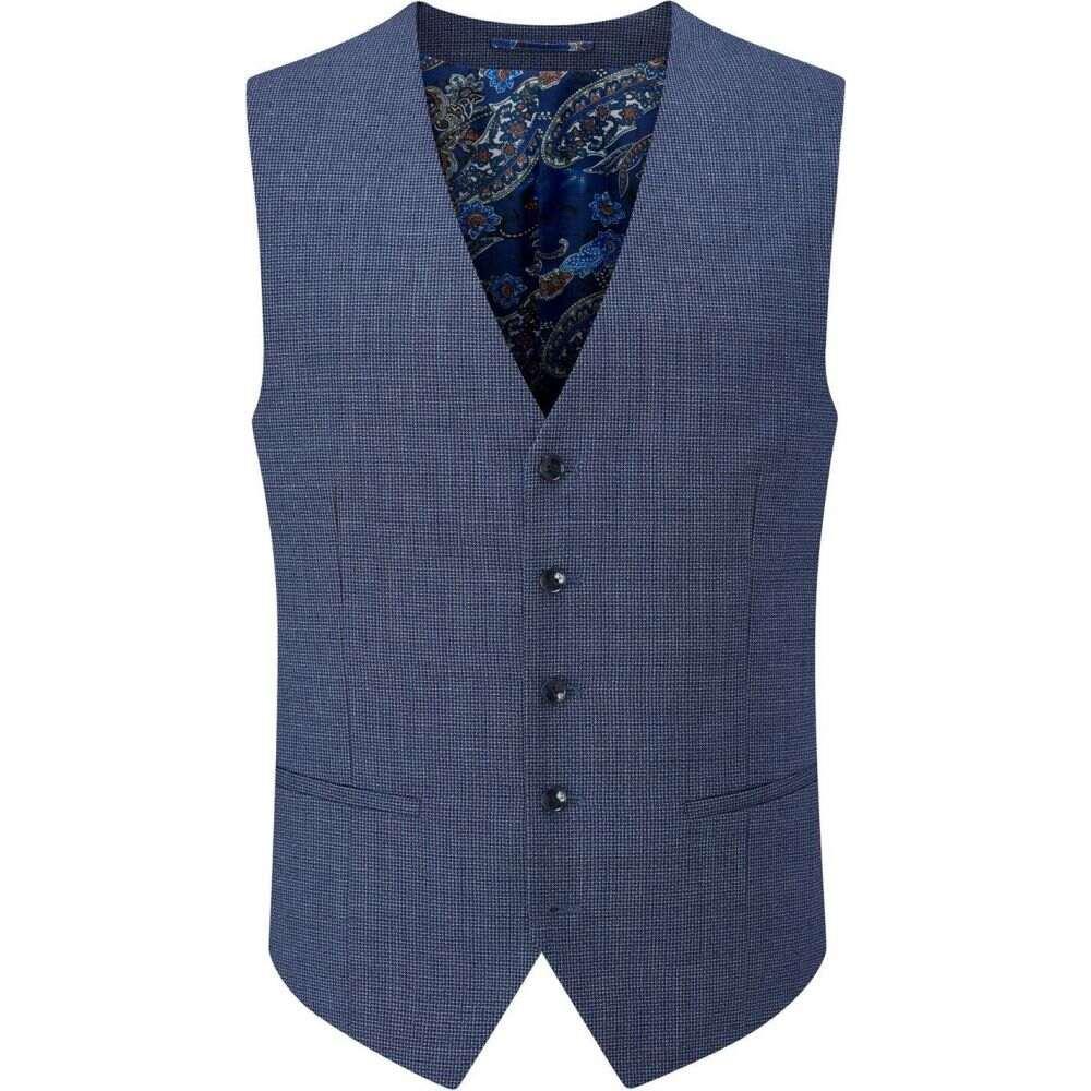 スコープス Skopes メンズ ベスト・ジレ トップス【pietro wool blend suit waistcoat】Blue