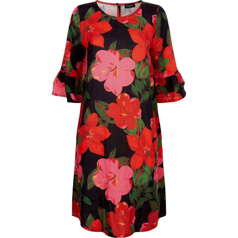 ジュームズ レイクランド James Lakeland レディース ワンピース ワンピース・ドレス【floral linen dress】Black