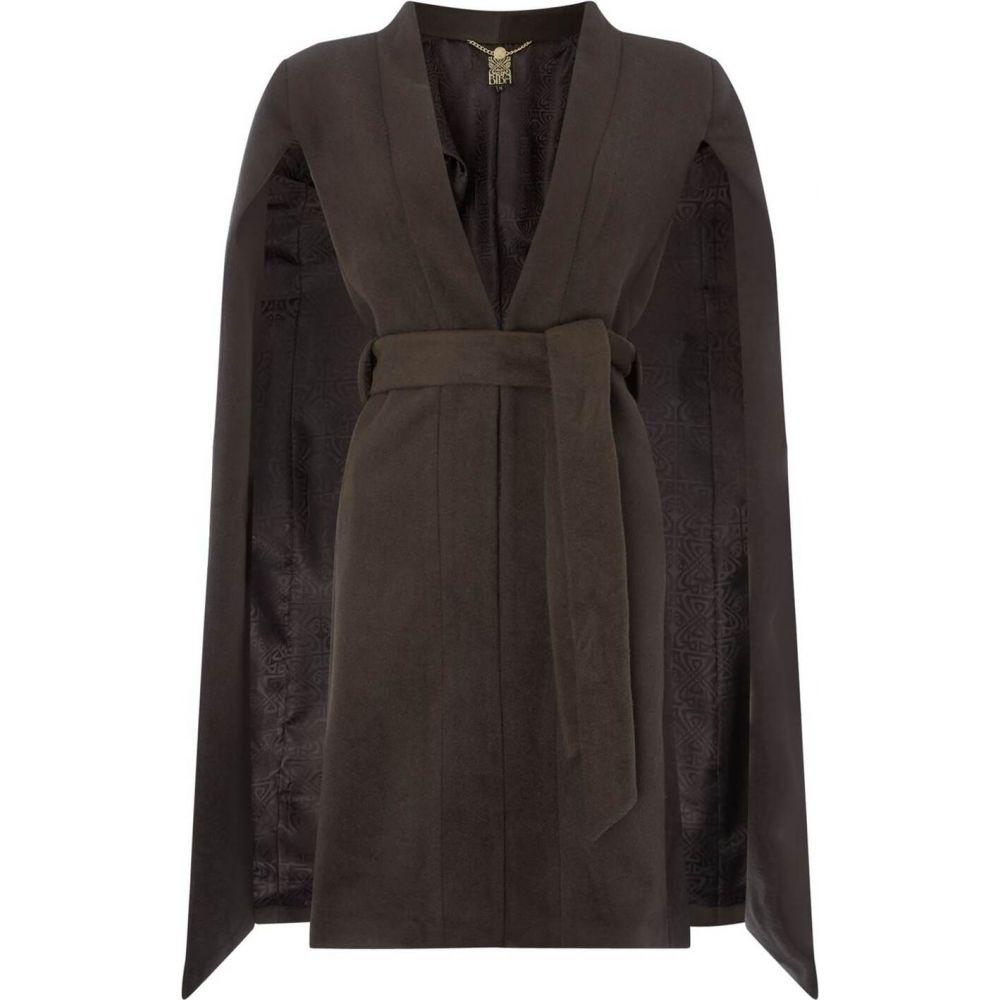 ビバ Biba レディース コート アウター【wool blend cape coat khaki 8】Khaki