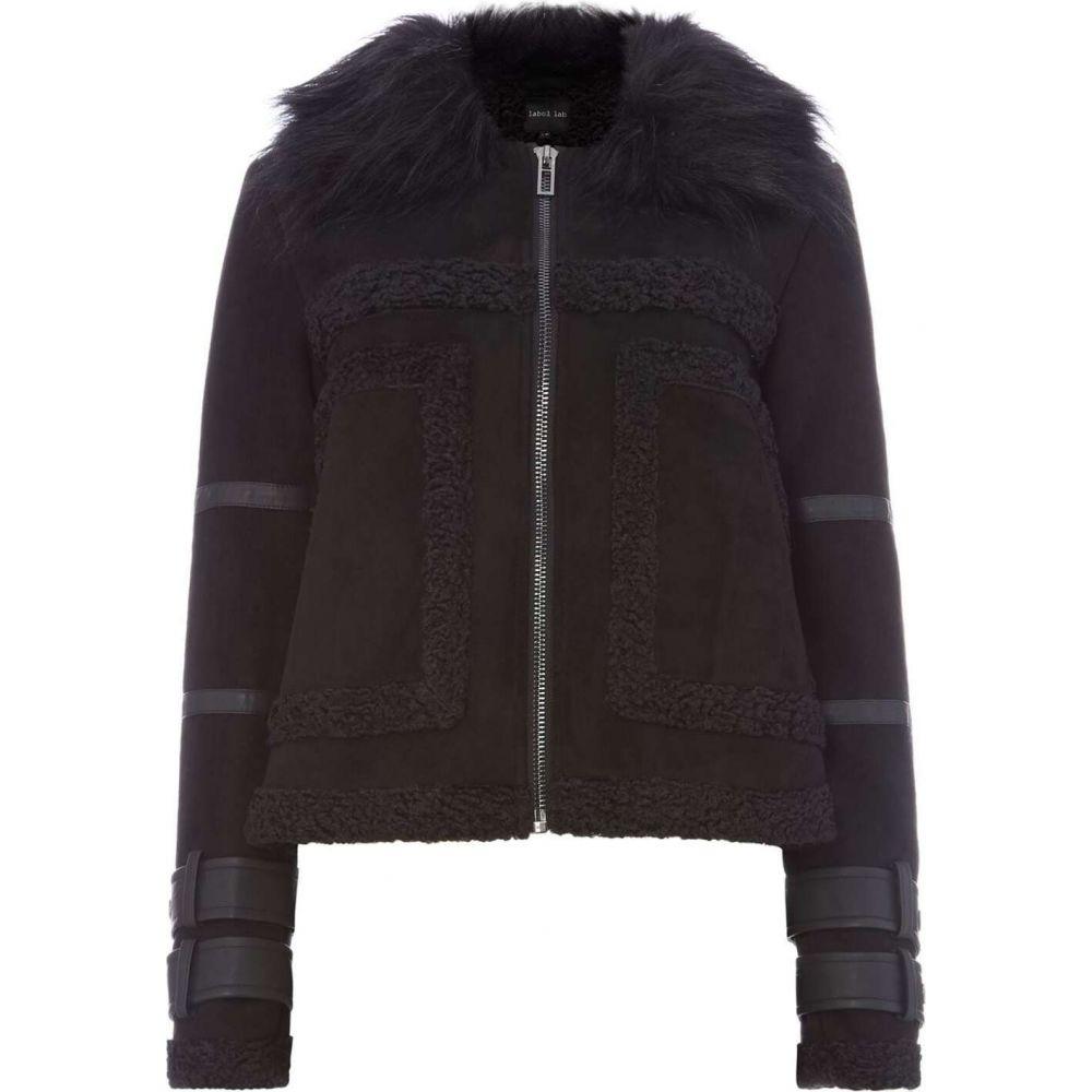 レーベルラボ Label Lab レディース ジャケット アウター【nolan jacket with faux fur】Black