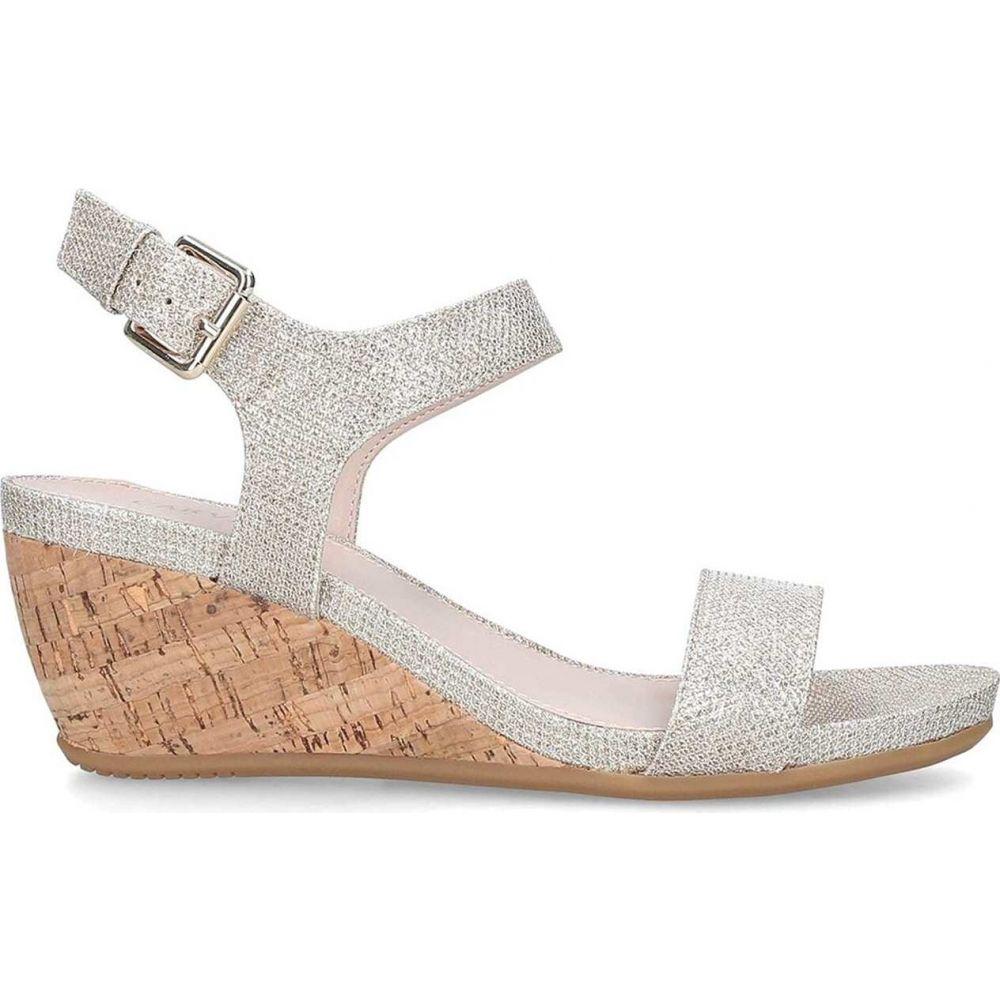 カーベラ Carvela レディース サンダル・ミュール ウェッジソール シューズ・靴【sparkle mid heel wedge sandals】Metallic
