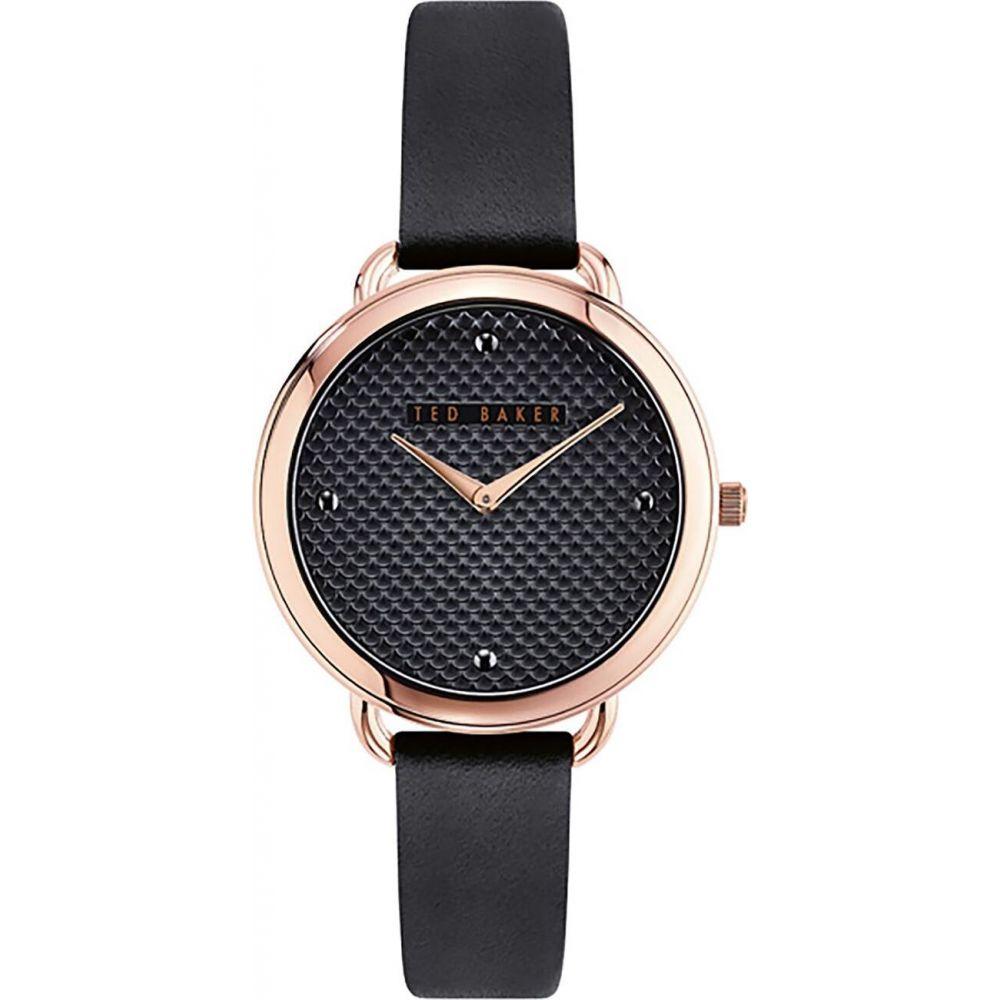 テッドベーカー Ted Baker レディース 腕時計 【black leather strap watch】METALLICS