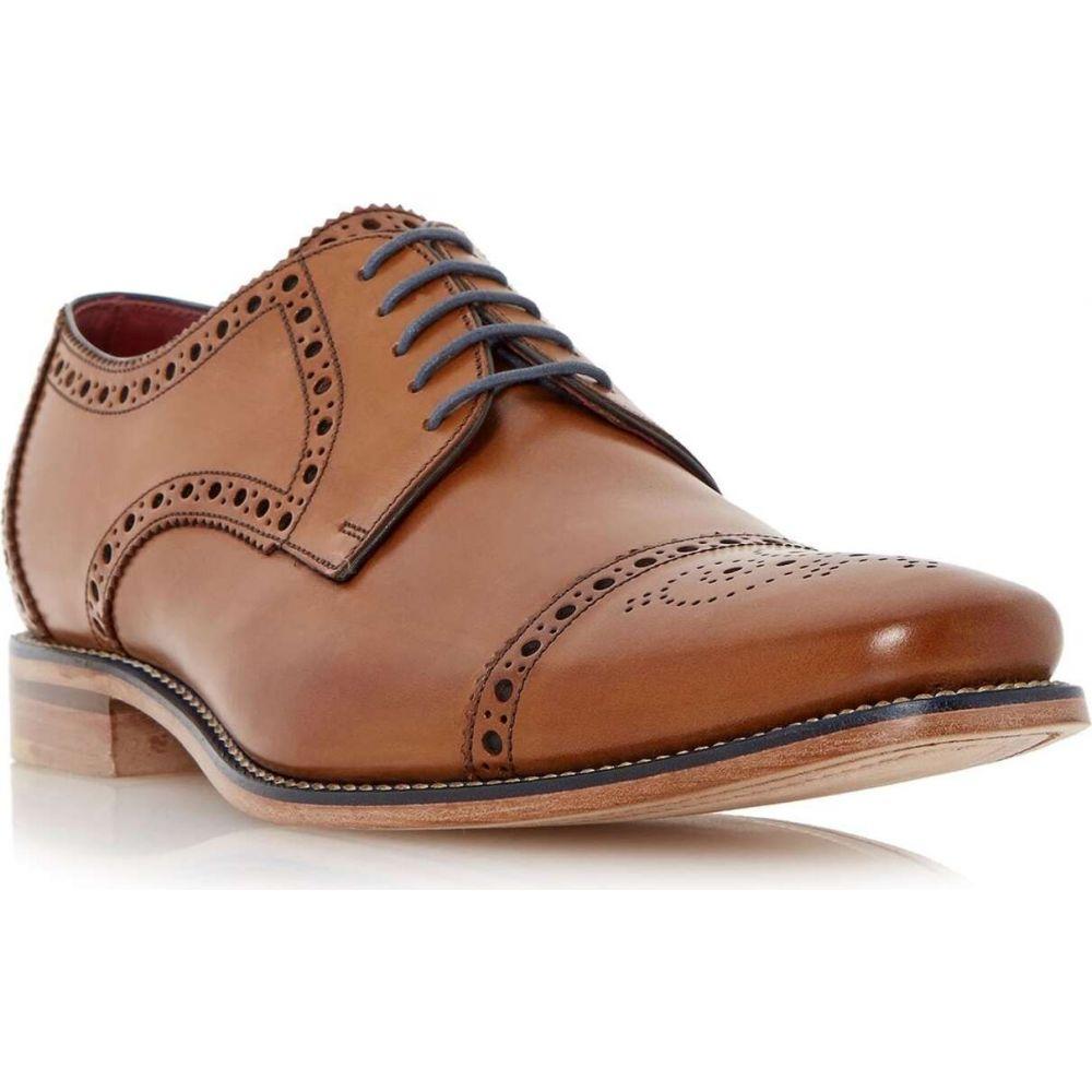 ローク Loakes メンズ 革靴・ビジネスシューズ メダリオン シューズ・靴【foley brogue toecap leather gibson shoes】Tan