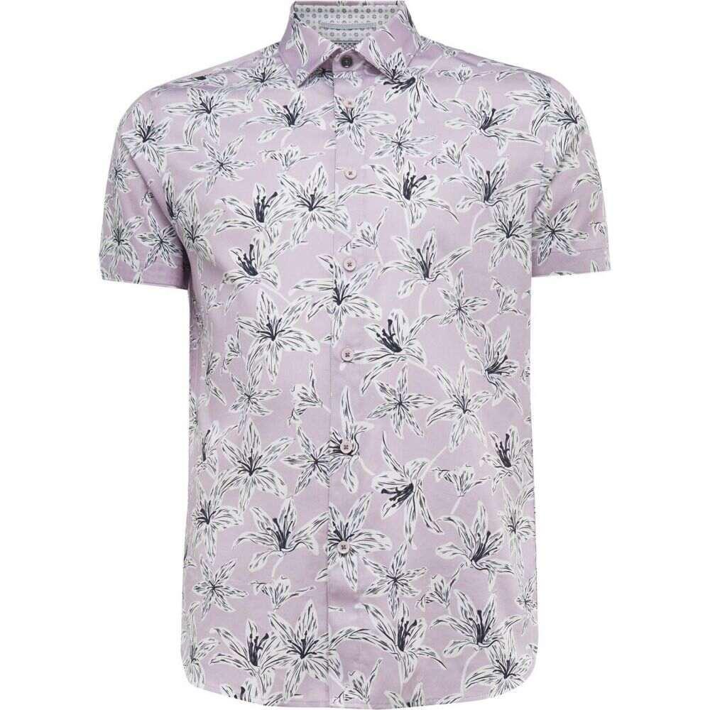 テッドベーカー Ted Baker メンズ 半袖シャツ トップス【bonfire ss floral print shirt】LILAC