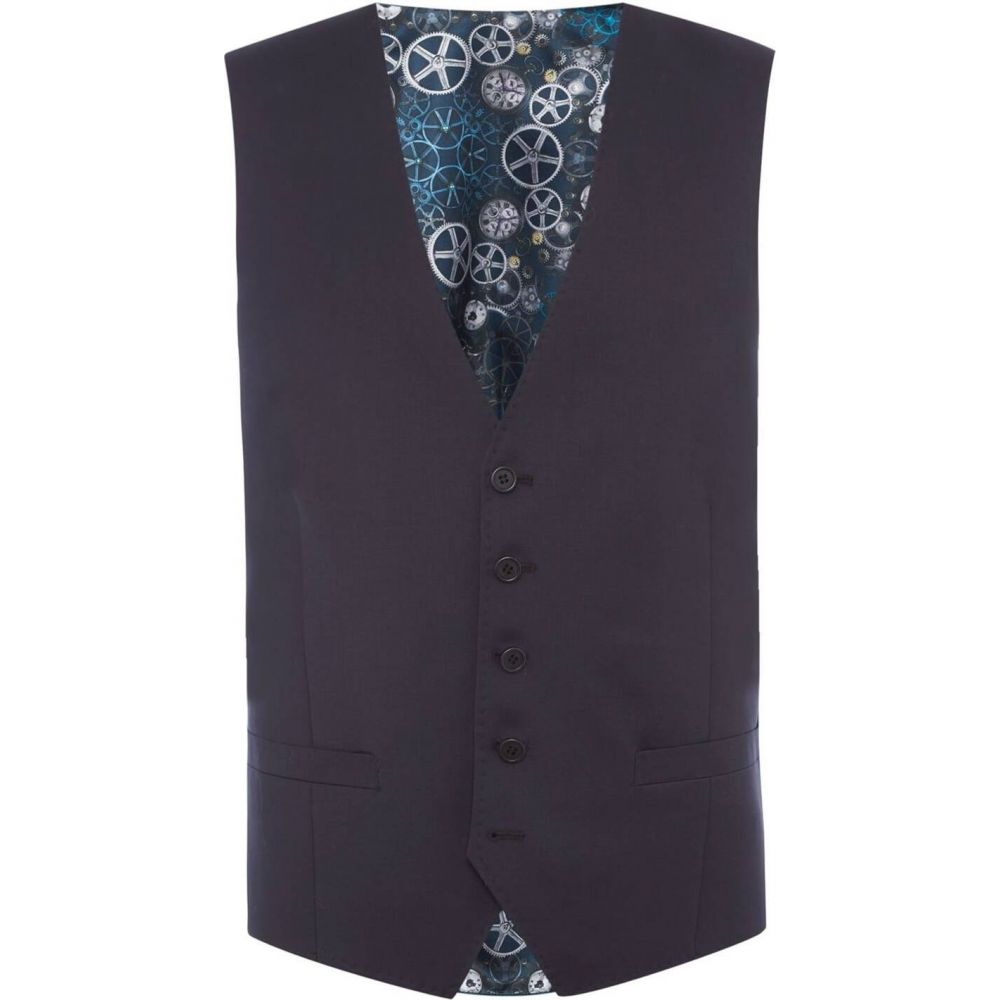 テッドベーカー Ted Baker メンズ ベスト・ジレ トップス【timeless suit waistcoat】Navy