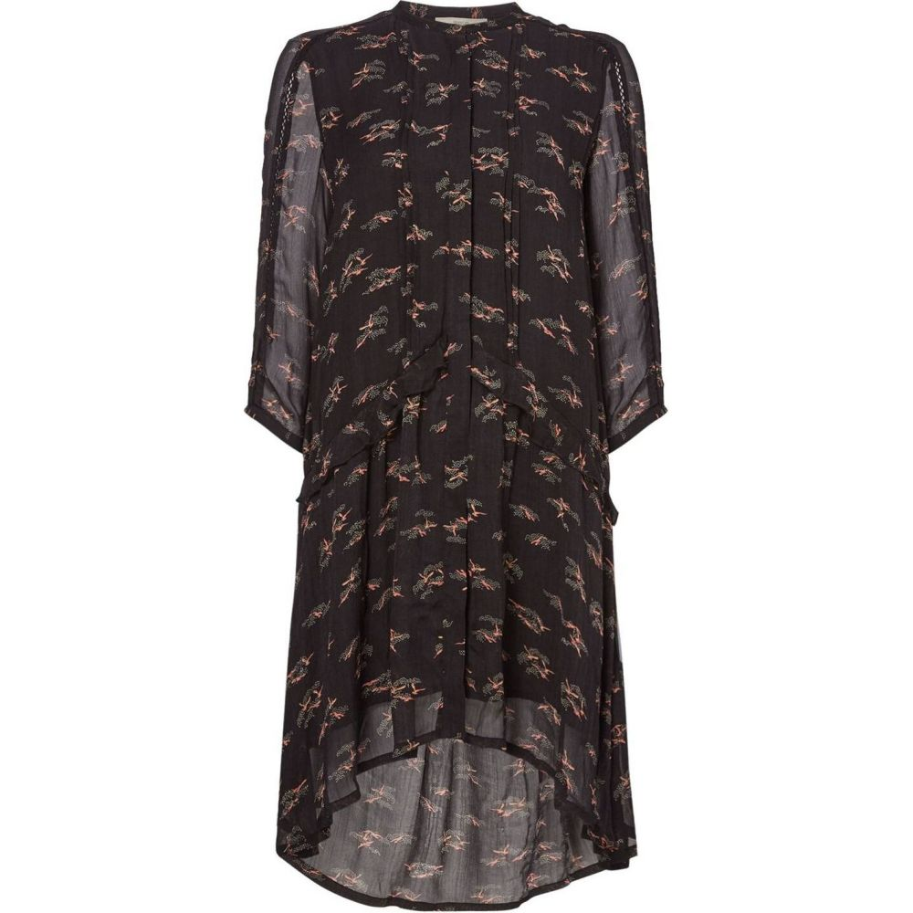 セッスン Sessun レディース ワンピース シャツワンピース ワンピース・ドレス【floral printed shirt dress】Black